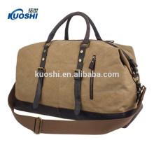 bolsa de lona de viaje de lona personalizada para el equipaje de los hombres