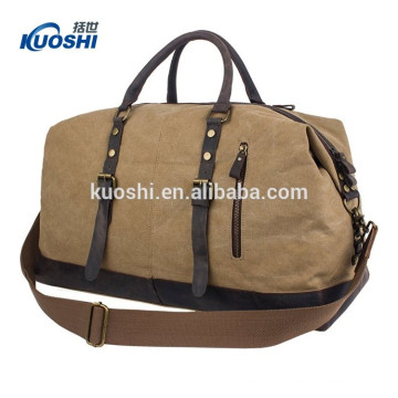 customised size travel bag with leather material
