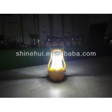 Com lâmpada de iluminação alta lanterna levou portátil acampamento lanterna lâmpada solar
