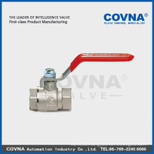 full flow flat lever handle brass ball valve made in china