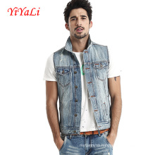 2016 New Style Mens Casual Denim Waist Coat/Vest