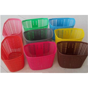 Plastic colorful Bicycle Front Basket for sale