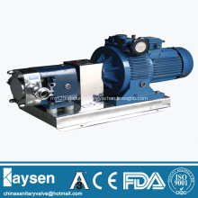 Sanitary stainless steel rotor lobe pumps