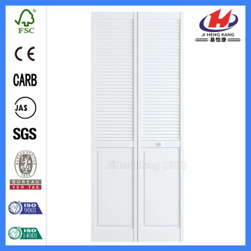 JHK-B06 White Primer Louver Panel Door And Swing