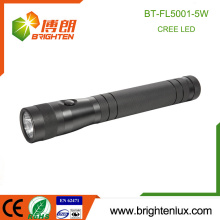 2015 Hot Sale Emergency Outdoor Usage Ultra Bright Powerful Matal Mult-function 3D Battery 5W Cree led flashlight torch