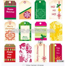 2017 new promotional Christmas tags& Christmas card