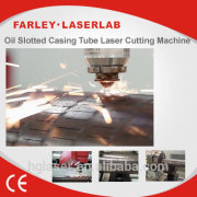For metal plastic materials 4000watts CO2 laser machine slot the steel oil pipe