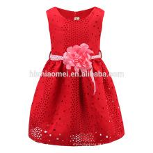 Vestido feito sob encomenda da menina da criança da roupa das crianças de alta qualidade para o vestido da menina do modelo do verão
