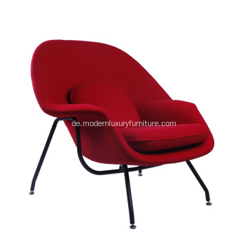 Klassischer Eero Saarinen Womb Red Cahsmere Lounge Chair