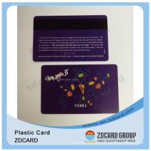 Barcode Plastic Membership Cards/Special Plastic Card/Spot UV Plastic Card
