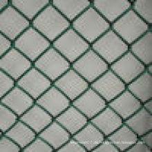 Plastik beschichtetes PVC beschichtetes Kettenverbindungs-Zaun-Qualität im niedrigen Preis