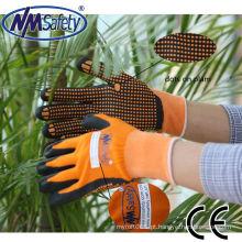 NMSAFETY granel nitrilo luvas pontilhadas funcionam construção