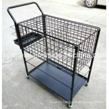 Customized Sport Tennis Ball Metal Storage Basket Carts