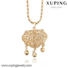 32669- Xuping élégant laiton bijoux enfants cloche collier en gros