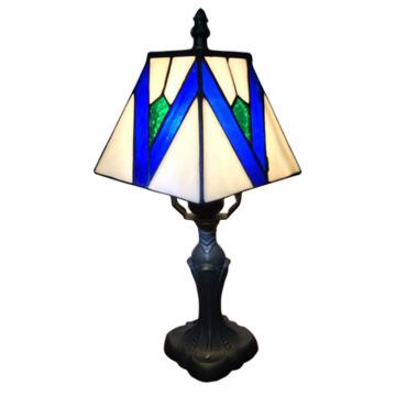 Lampe de chevet en verre bleu