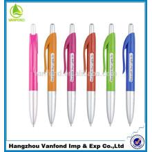 para promoción alta calidad mejor escritura publicidad plástico bolígrafo