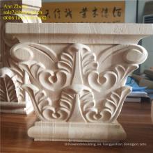 chimeneas corbel talla 3d madera capital
