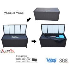 Plastic rattan storage box.
