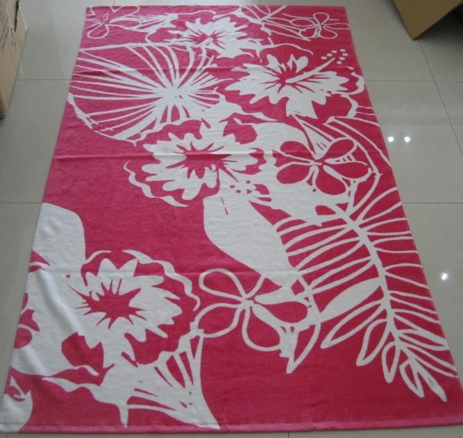 serviette de plage éponge 100 % coton velours imprimé