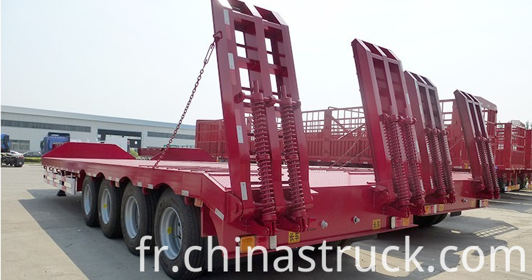 60Ton spring ladder low bed trailer picture 2