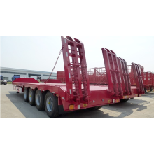 4 axle 100Ton low bed truck semi-trailer