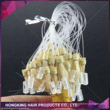 Menschliches Remy-Haar brasilianisches Mikroschleife-Ringhaarverlängerungen 100% reines Haar