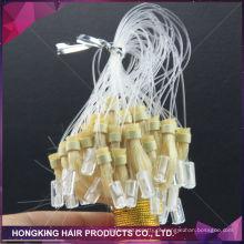 Humano cabelo Remy brasileiro micro loop anel extensões de cabelo 100% cabelo virgem