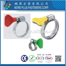 Made in Taiwan Strong Stainless Steel Schlauchklemmen Flexible Butterfly Handle Type Hose Clamp