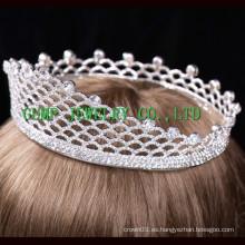 2016 Corona al por mayor del metal formó la tiara del Rhinestone