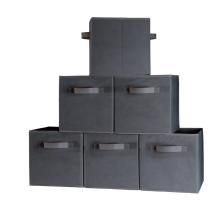 Boîte de rangement en tissu non tissé pliable de haute qualité de petite qualité