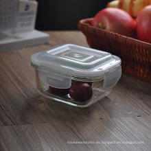Square Food Storage Recipiente de vidrio Bowl