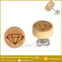 10MM Natural Wood Earrings Unfinished Wood Earring Wholesale Wooden Earrings