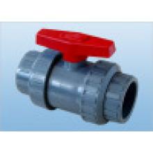 Válvula de bola de CPVC, válvula doble de la bola de la unión del PVC (Q61F-6S)