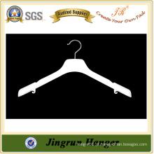 China Fornecedor Plastic White Hanger para o vestido com ombro Pads