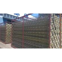 Zement benutzt Galvanized \ Silikon-Beschichtungs-Kohlenstoffstahl-Filtertüten-Käfig