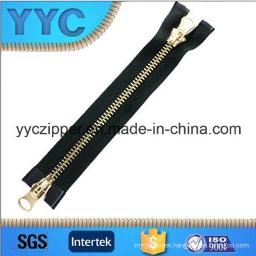Big Size Two Way Open Metal Zipper Bags Zipper