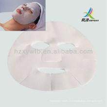 Masque facial non-tissé pour le salon, feuille sèche de masque pour le salon de beauté