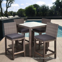 Patio Garden Furniture Rattan Wicker Outdoor Bar Chair Set