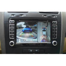 Waterproof HD CMOS Car Rearview Camera System , Around View