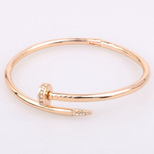 Popular Gold Unisex Bracelet Diamonds Nail Bangle