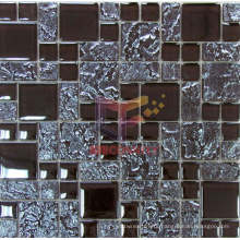 Titanium Metallic Color Like Glass Crystal Mosaic Tile (TC373)