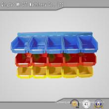 540-0001 Caja de almacenamiento de plástico para compartir piezas de maquinaria, 3 estantes 15 bandejas