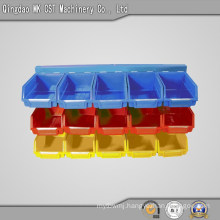 540-0001 Plastic Storage Box for Sharing Machinery Parts, 3 Shelves 15 Bins