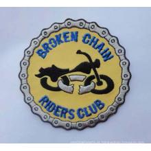 Emblemas redondos da organização do remendo do bordado com logotipos (GZHY-PATCH-008)