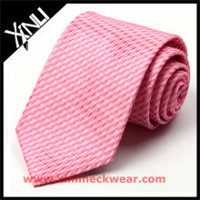High Quality Print Pink Silk Tie