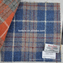 New arrival blue check harris tweed fabrics for handbags