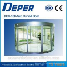 Porte coulissante cintrée en verre automatique commerciale DPER