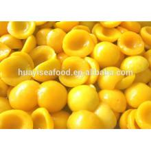 Venta caliente buen precio delicioso congelado amarillo melocotón