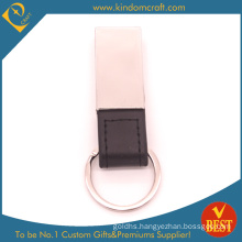 High Quality Wholesale Metal Attachment Leather Key Ring for Activity or Brand Publicity