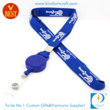 Cheap Customized Logo Screen Printed Lanyard with Badge Reel From China